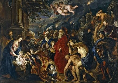 tableaux-religieuses - Tableau -La adoracion de los reyes magos- - Rubens, Peter Paulus