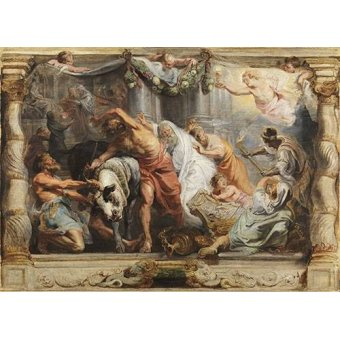 Tableaux religieuses - Tableau -La victoria de la Eucaristia sobre la Idolatria- - Rubens, Peter Paulus
