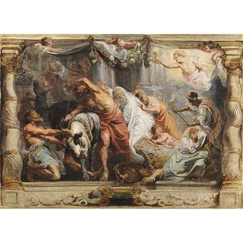 Quadro -La victoria de la Eucaristia sobre la Idolatria-