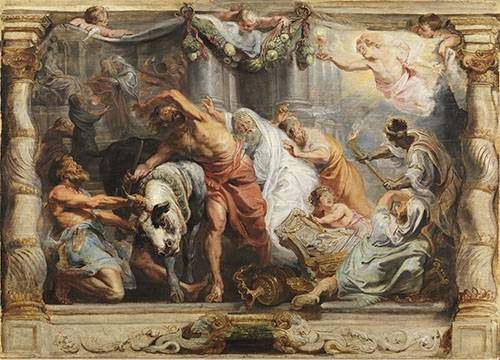 tableaux-religieuses - Tableau -La victoria de la Eucaristia sobre la Idolatria- - Rubens, Peter Paulus