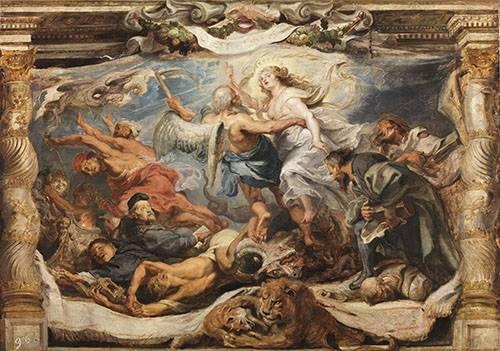 tableaux-religieuses - Tableau -La victoria de la verdad sobre la herejia- - Rubens, Peter Paulus