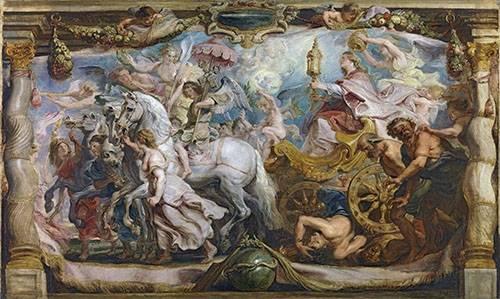 tableaux-religieuses - Tableau -El triunfo de la iglesia- - Rubens, Peter Paulus