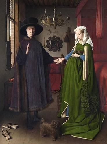 tableaux-de-personnages - Tableau -Les Époux Arnolfini, 1434- - Van Eyck, Jan