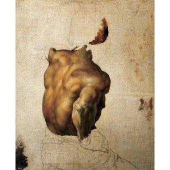 Tableaux de Nus - Tableau -Étude du torse- - Gericault, Theodore