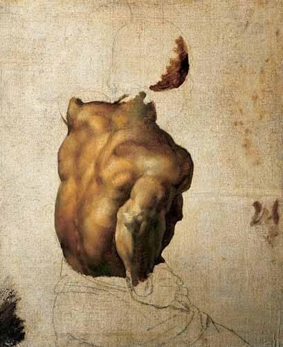 tableaux-de-personnages - Tableau -Étude du torse- - Gericault, Theodore