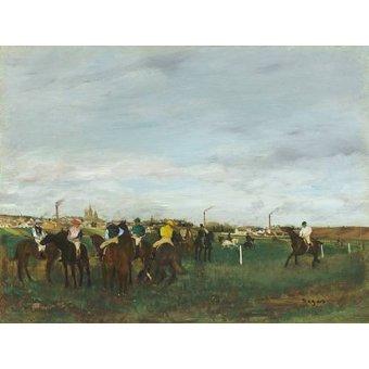 Tableaux de faune - Tableau -Les courses- - Degas, Edgar