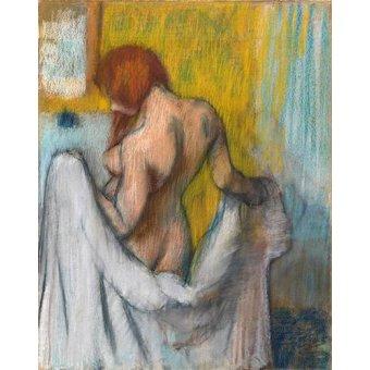 Tableaux de Nus - Tableau -Femme avec une serviette- - Degas, Edgar