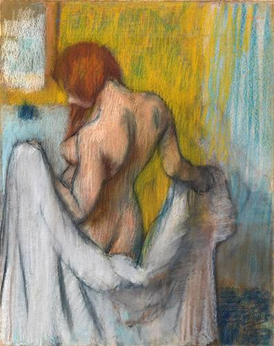 tableaux-de-personnages - Tableau -Femme avec une serviette- - Degas, Edgar