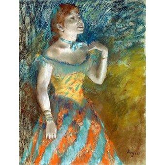 Tableaux de Personnages - Tableau -Chanteur vert- - Degas, Edgar