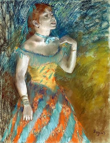 tableaux-de-personnages - Tableau -Chanteur vert- - Degas, Edgar