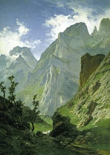 tableaux-de-paysages - Tableau -Picos de Europa- - Haes, Carlos de