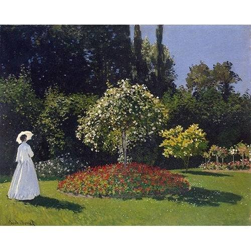 Quadro -Woman in a Garden, 1867 -