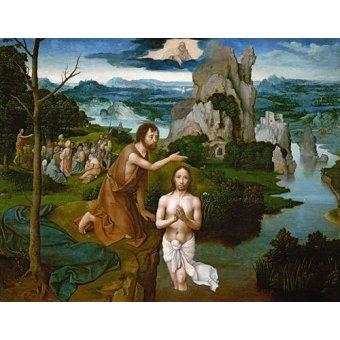 Tableaux religieuses - Tableau -Baptism of Christ_Bautismo de Cristo- - Patinir, Joachim