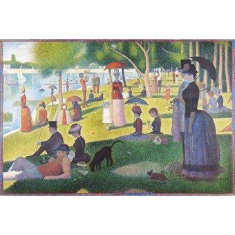 Tableaux de Personnages - Tableau -Un dimanche après-midi à l'île de la Grande Jatte- - Seurat, Georges