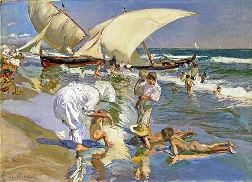tableaux-de-paysages-marins - Tableau -Plage de Valence le matin- - Sorolla, Joaquin