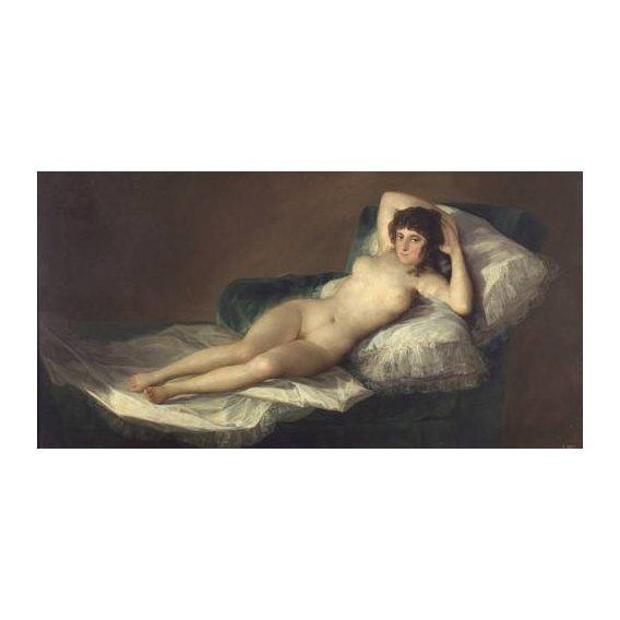 pinturas do retrato - Quadro -La maja desnuda-