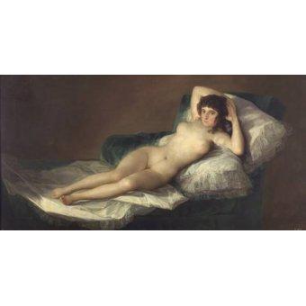 Tableaux de Nus - Tableau -La maja desnuda- - Goya y Lucientes, Francisco de