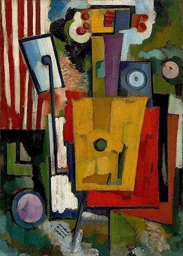 tableaux-abstraits - Tableau -Vie des instruments, 1916- - Souza-Cardoso, Amadeo de