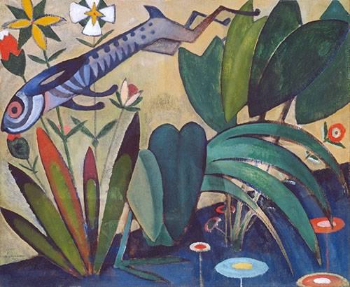 tableaux-de-paysages - Tableau -O Salto Do Coelho- - Souza-Cardoso, Amadeo de