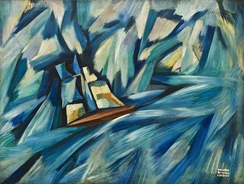 tableaux-abstraits - Tableau -A Chalupa, 1914-15- - Souza-Cardoso, Amadeo de