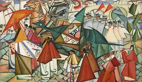 tableaux-de-personnages - Tableau -Corpus Christi Procession, 1913- - Souza-Cardoso, Amadeo de