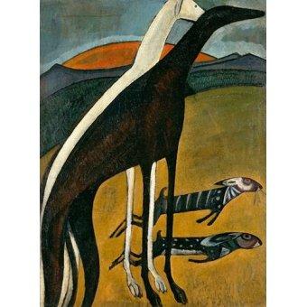Tableaux de faune - Tableau -Os Galgos- - Souza-Cardoso, Amadeo de
