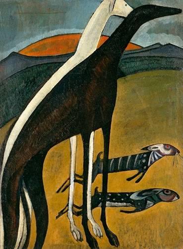 tableaux-de-paysages - Tableau -Os Galgos- - Souza-Cardoso, Amadeo de