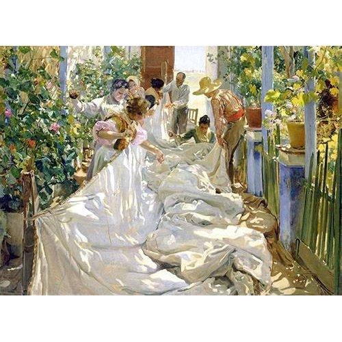 Tableau -Cousant la voile, 1896-