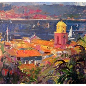 Tableaux de paysages marins - Tableau -St Tropez Sailing, 2002 - - Graham, Peter