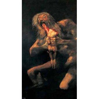 Tableaux de Personnages - Tableau -Saturno devorando a un hijo(1821-23)- - Goya y Lucientes, Francisco de