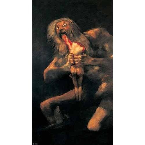 Tableau -Saturno devorando a un hijo(1821-23)-