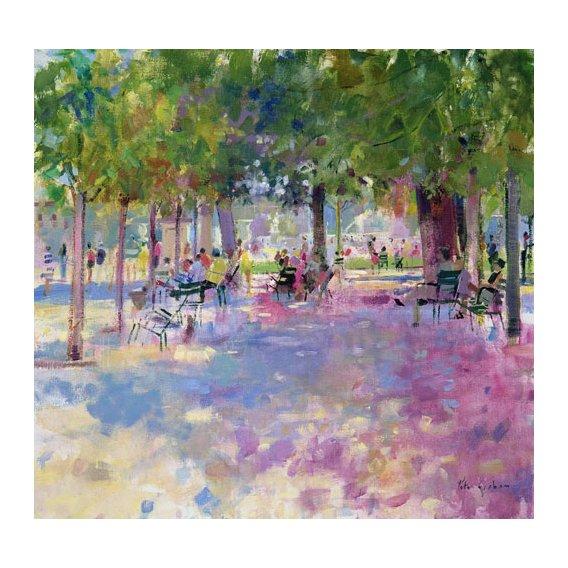 Tableau -Tuileries, Paris (oil on canvas) -