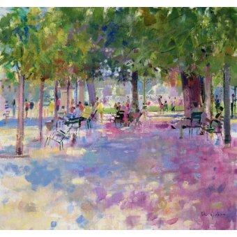 Tableaux modernes - Tableau -Tuileries, Paris (oil on canvas) - - Graham, Peter