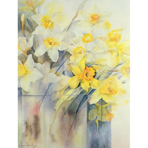 Tableau -Mixed Daffodils in a Tank-