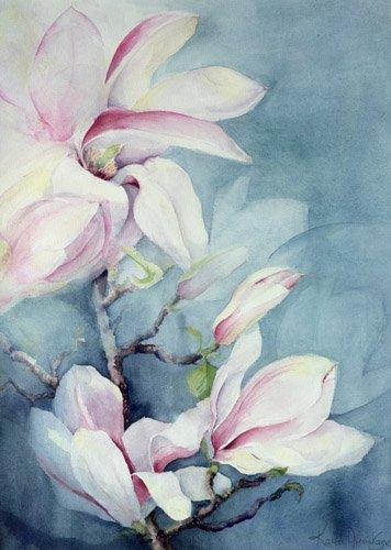 tableaux-de-fleurs - Tableau -Magnolia Soulangeana (vertical)- - Armitage, Karen