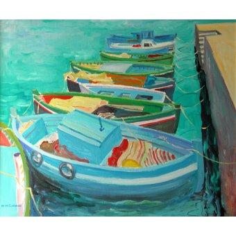 Tableaux de paysages marins - Tableau -Blue Boats, 2003- - Ireland, William