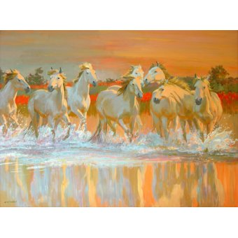 Tableaux de faune - Tableau -Camargue- - Ireland, William
