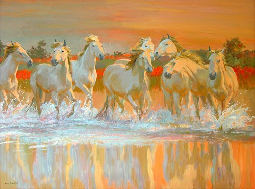 tableaux-modernes - Tableau -Camargue- - Ireland, William