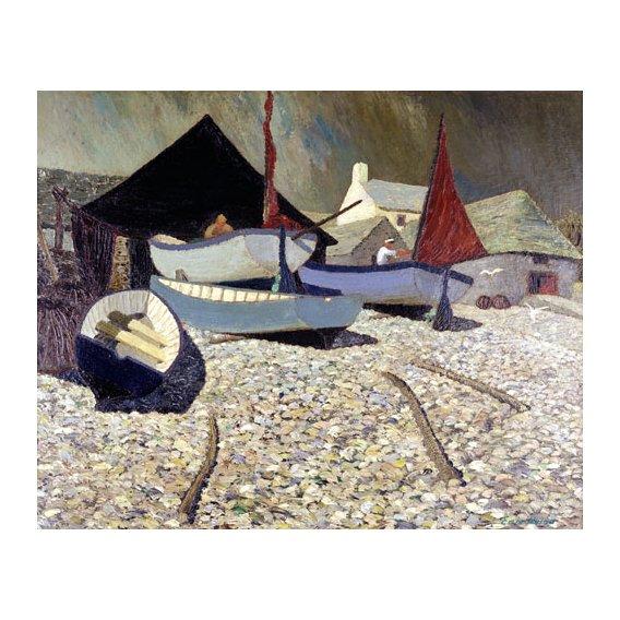 Tableau -Cadgwith, the Lizard (oil on canvas)-