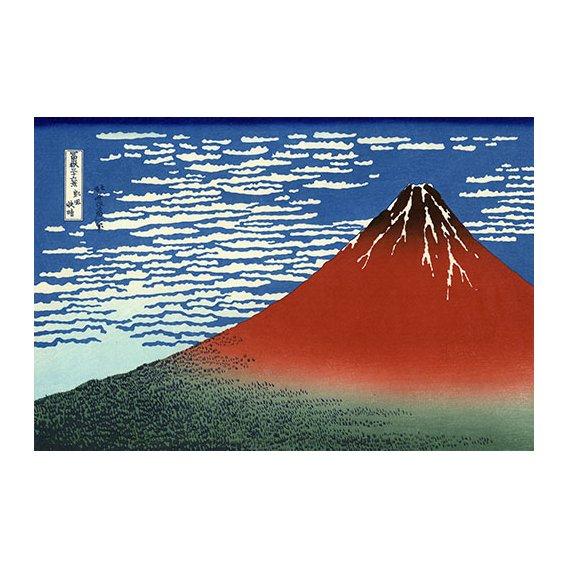 Tableau -Fuji Rouge, vent du sud, temps clair-