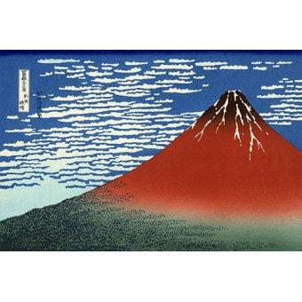 Tableaux orientales - Tableau -Fuji Rouge, vent du sud, temps clair- - Hokusai, Katsushika
