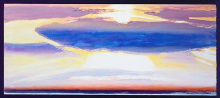 tableaux-abstraits - Tableau -Skyscape (mixed media)- - Gibbs, Lou