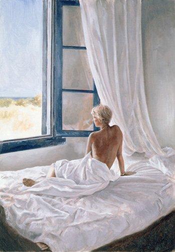tableaux-de-nus - Tableau -Afternoon View (oil on canvas)- - Worthington, John