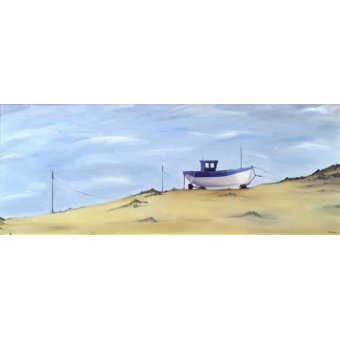 Tableaux de paysages marins - Tableau -Beached (oil on canvas)- - Bianchi, Ana