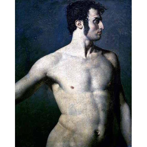pinturas do retrato - Quadro -Torso de hombre-