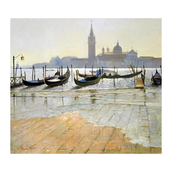 Tableau -Venice at Dawn (oil on canvas)-