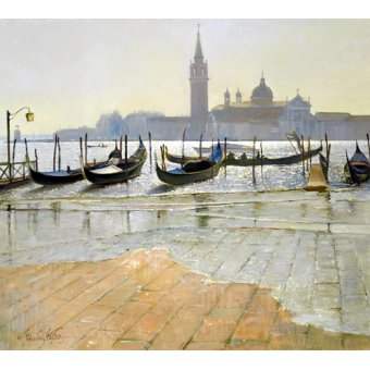 Tableaux de paysages marins - Tableau -Venice at Dawn (oil on canvas)- - Easton, Timothy