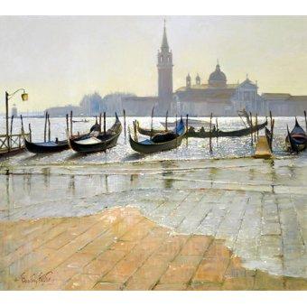 Tableaux modernes - Tableau -Venice at Dawn (oil on canvas)- - Easton, Timothy