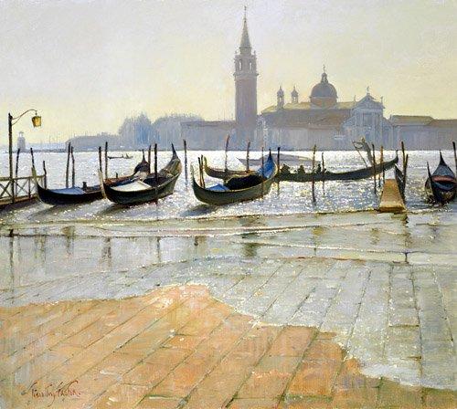 tableaux-de-paysages-marins - Tableau -Venice at Dawn (oil on canvas)- - Easton, Timothy