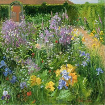 Tableaux de Fleurs - Tableau - Sweet Rocket, Foxgloves and Irises, 2000 - - Easton, Timothy